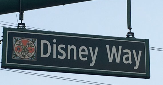 Disney Way street sign